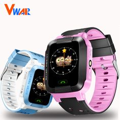 "Hot Deals $20.73, Buy Vwar VM75 Kids GPS Tracker Watch Kids Smart Watch with Camera Flash Light 1.44"" Touch Screen SOS Call Location Finder for Child"