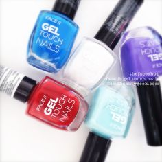 The Face Shop (TheFaceShop) Face It Gel Touch Nail polish has landed! Let's look at the swatches of this 4-free nail polish!