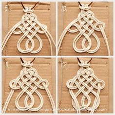 Roundup of 20 modern macrame projects -- retro macrame crafts and DIY. A roundup of 20 modern MACRAME PROJECTS -- retro macrame crafts and DIY. Macrame home decor, jewelry, accessories, and more. Macrame Colar, Macrame Necklace, Micro Macrame, Diy Necklace, Macrame Modern, Macrame Hanging Planter, Macrame Tutorial, Macrame Projects, Macrame Patterns