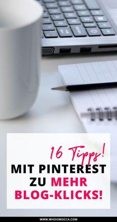 Checkliste für mehr Pinterest Traffic, 16 wirkungsvolle Tipps und Tricks für Pinterest.