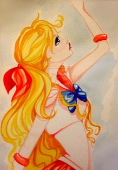 Sailor Venus watercolor by Shimakotodo.deviantart.com on @deviantART
