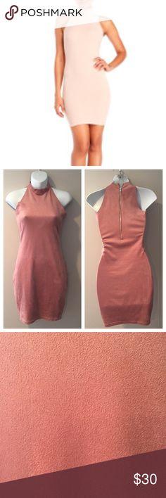 "🆕 Olivaceous Tea Rose Faux Suede Dress.Size Small 🆕 Olivaceous Tea Rose(color) Faux Suede Dress.  Size Small. Poly/spandex. 32 1/2"" long Olivaceous Dresses"
