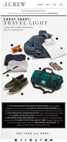 J.CREW : Packing List