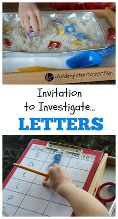 Invitation to Investigate Beginning Letter Sounds