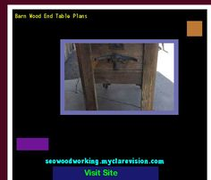Barn Wood End Table Plans 103953 - Woodworking Plans and Projects!