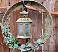 Gardening with Rustic Vintage Pieces