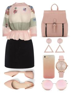 """""""Geen titel #266"""" by soukiiz ❤ liked on Polyvore featuring rag & bone, RED Valentino, Kate Spade, Vivani and Matthew Williamson"""