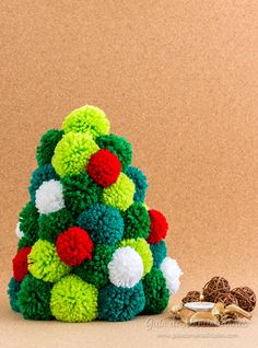 Árbol de Navidad de pompones