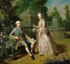 """Louis-Jean-Marie de Bourbon, duc de Penthièvre et sa fille, Louise-Adelaïde, """"Mademoiselle de Penthièvre"""" (future duchesse d'Orléans) by J. B. Charpentier (Versailles)"""