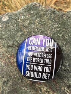 Can you remember who you were before the world told you who you should be Quote Large Magnet fridge, locker,Kühlschrank,magnete, aimant