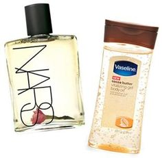 Splurge vs. Steal: NARS Monoi Body Glow & Vaseline Cocoa Butter Gel Body Oil