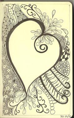 Zentangle #heart #doodle #art #journal #sketchbook