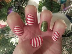2013 candy cane nails