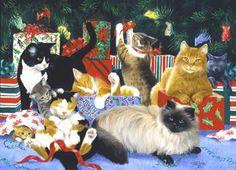 Linda Picken Art Studio / Kitty Christmas Party.jpg
