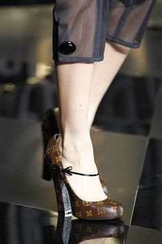 LV monogram mary janes - fall These shoes are to DIE for! I m in love with  the tiny strap and bow closure fc0c09e10e3