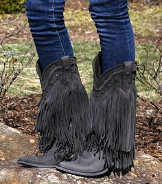fringe cowgirl boots - Google Search