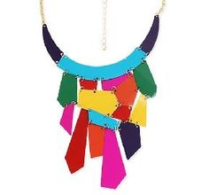 Try a statement necklace to add a #PopOfColor to your look!