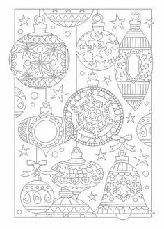 Christmas bauble coloring page : Relax with Art FB page Christmas Activities, Christmas Printables, Colorful Drawings, Colorful Pictures, Christmas Colors, Christmas Art, Free Coloring, Coloring Pages For Kids, Christmas Coloring Sheets