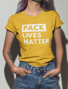 Pack Lives Matter Funny Football T-Shirt. Multiple Color Options. Greenbay  Packers. Men s Women s Punny Gift. Sunday Gameday bfa8ee1d2