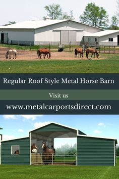 Metal Carports Direct in North Carolina sells high-quality, low-cost pre-designed workshop structures, metal barn and metal garages. Order your metal building now and get it delivered in the shortest period, as it is made of the highest grade metal. Metal Barn Kits, Metal Horse Barns, Metal Carports, Metal Garages, Prefab Metal Buildings, Steel Barns, Roof Styles, Horses, North Carolina