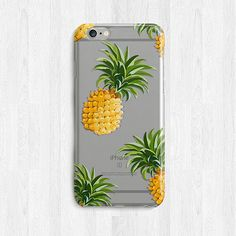 Tropical Pineapple iPhone 6 case, Fruit Phone Case, Galaxy S7 Case, Transparent Note 5 Case, Slim iPhone Case, Summer Phone Case, Cute Case