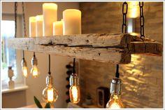 **RETRO LAMPE **EDISON ** AUS ALTEM BAUHOLZ** Dieses liebevoll und aufwendig aufgearbeitete Bauholz ist der Hingucker schlechthin. Zum einen dient es als Lampe, zum anderen bietet die...