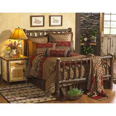 Save - on all Rustic bedding and comforter sets at Black Forest Decor. Your source for discount pricing on lodge bedding and bear bedding accessories. Log Bedroom Furniture, Painted Furniture, Adirondack Decor, Rustic Bedding Sets, Western Bedding, Black Forest Decor, Log Home Decorating, Decorating Ideas, Decorating Bedrooms