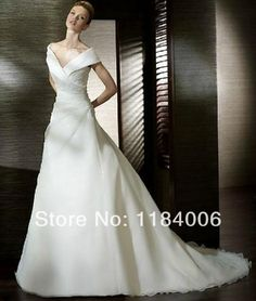 Free Shipping 2014 Hight quality Custom-made bridal A-Line wedding dresses HK-077 $173.00