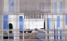 Nuovo Calendario desktop Febbraio 2014 by Aemmebi Stanzacreativi, tra il grigio qualche sprazzo di blu... puoi scaricalo su http://www.slideshare.net/aemmebistanzacreativi
