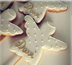Angel Cookies, Baby Cookies, Iced Cookies, Royal Icing Cookies, Christmas Sugar Cookies, Christmas Baking, Gingerbread Cookies, All Things Christmas, Christmas Holidays