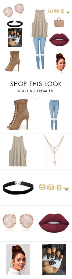 """A dream set"" by emmacuroe ❤ liked on Polyvore featuring Wild Diva, Topshop, Miss Selfridge, LULUS, Monica Vinader, Lime Crime, Givenchy, contestentry, laceupsandals and PVStyleInsiderContest"