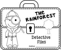 The Rainforest Detective Files activity . Amazon Rainforest Animals, Rainforest Activities, Rainforest Habitat, Rainforest Creatures, Kindergarten Activities, Science Activities, Preschool Projects, Rainforest Deforestation, Rainforests