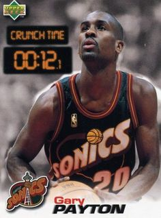 RARE 97/98 UPPER DECK CRUNCH TIME GARY PAYTON SEATTLE SUPERSONICS MINT