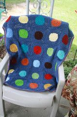 Ravelry: Pokey Dots Throw pattern by Red Heart Design Team