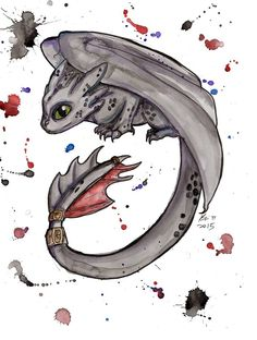 """Toothless"" by Bri Pi Art, 8.5X11 print, signed & donated by the artist"