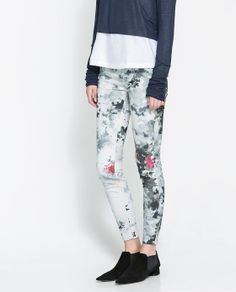 ZARA - WOMAN - PRINTED SUPERSTRETCH TROUSERS