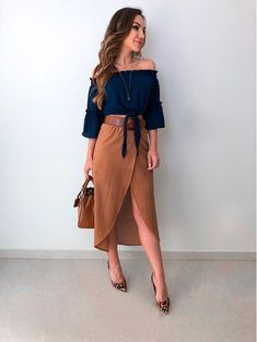 Elegant Outfit, Classy Dress, Classy Outfits, Cool Outfits, Look Fashion, Girl Fashion, Fashion Dresses, Womens Fashion, Skirt Outfits
