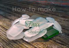 How to Make Faux Sea Glass   Please help me increase this posts reach! Please LIKE, ☻Comment & → SHARE. Thank you! be sure to SHARE with friends and family so they can enjoy the fun too!!!  Sea glass or beach glass is the pretty, worn down, rounded, matted glass you can sometimes find at the beach. It is pretty rare, especially in other colours than green, brown or white. It's also beautiful. People love to use it for all kinds of decorative purposes: making jewelry, adorning vases or…