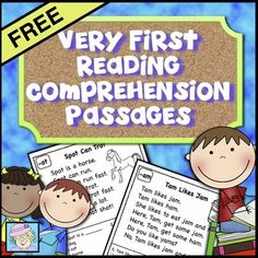 FREE Very First Reading Comprehension Passages - These word families are included: am, eb, im, ot, um, & eck. These are perfect for your Kindergarten or 1st grade new readers!