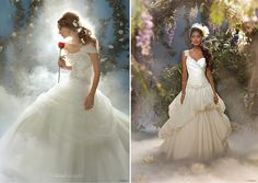 Disney princess inspired wedding dresses by Alfred Angelo