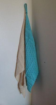 Essuie mains en coton tricoté