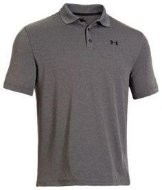 Under Armour UA Performance Polo Short Sleeve Shirt for Men - Carbon Heather - 2XL