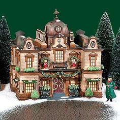 """Department 56: Products - """"The Slone Hotel"""" - View Lighted Buildings"""