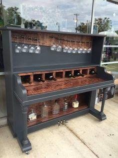 Piano bar made from... a piano!