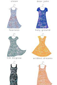Clean ~ Dear John ~ Fearless ~ Holy Ground ~ Tim Mcgraw ~ Wildest Dreams\DRESS