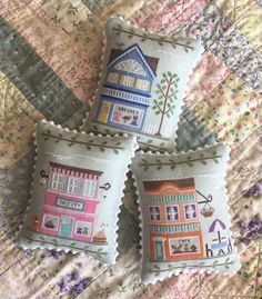 Main Street Series Art Gallery Cross Stitch Pattern Country Cottage Needleworks