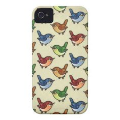 Cute Glittering Colourful Birdies Pattern on iPhone case $49.95 #iPhone #case #cute #birds #pattern