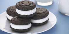 Gluten Free Whoopie Pies.  Use your favorite GF Flour, Cocoa and Vanilla.