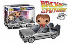 Marty McFly e DeLorean em miniatura do filme Back to the Future - 1985