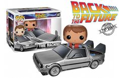 Marty McFly e DeLorean em miniatura do filme Back to the Future - 1985